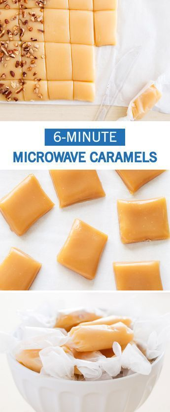 These easy Homemade Microwave Caramels can be made in 6 minutes with only 5 ingredients! These will be the easiest candy you will make this holidays. Wrap them up in festive paper to share these bite-size treats with your holiday guests.