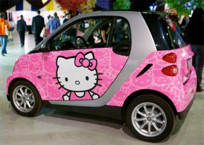 Hello Kitty car. Repinned on Pinterest Pins I Like https://pinterest.com/pinterestleads/pinterest-pins-i-like