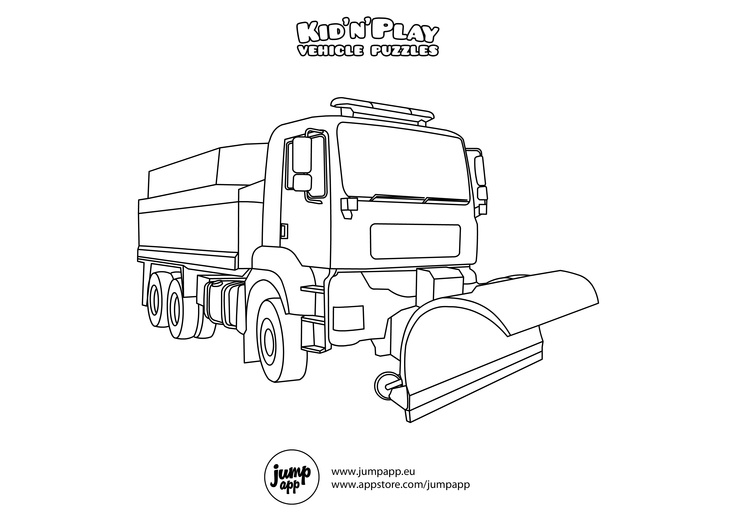 Snow plow printable coloring pages pinterest for Snow plow coloring pages