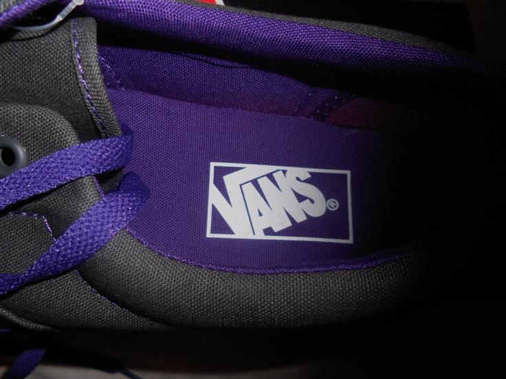 Purple gray Vans.