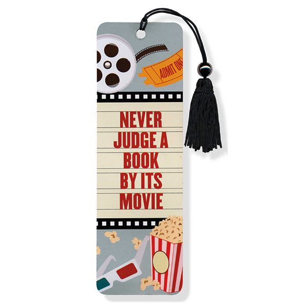 Peter Pauper Press Bookmark - Never Judge A Book By Its Movie