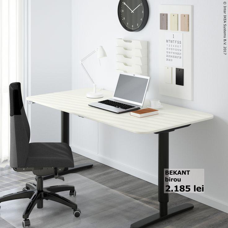 Biroul BEKANT te ajută să îți faci un colț de lucru pe placul tău.