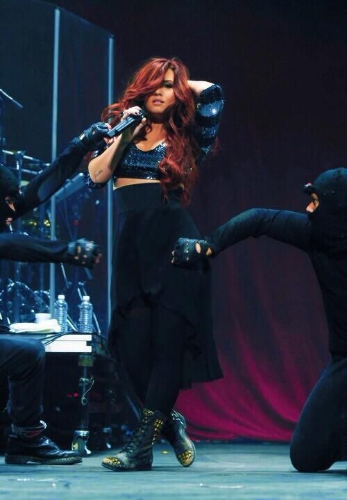 Demi Lovato long red hair