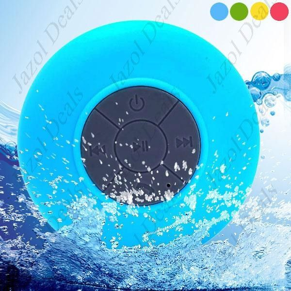 Waterproof Bluetooth V3.0+EDR Shower Hands-free Portable Speaker w/ Suction Cup Mic for Shower Room Car