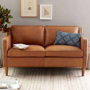 Hamilton Leather Love seat, West Elm, Sale $1700