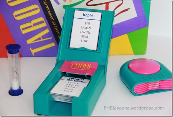 Church Words Taboo Game with lots of FREE PRINTABLEs!!!! #FHE #freeprintable #game