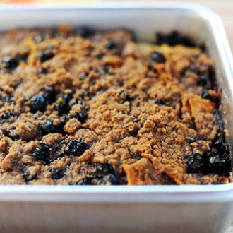 This is a scrumptious make-ahead breakfast casserole that's so easy to prepare, it should be illegal. Leave it plain as the recipe dictates, or throw in blueberries or apple chunks to give it…