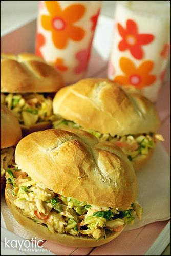 Curried chicken salad: Fun Recipes, Curry Chicken Salads, Curried Chicken Salads, Food, Salad Recipe, Chickensalad, Chicken Sandwich, Chicken Salad Sandwiches