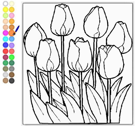 tulpen kleurplaat kleurplaten bloem kleurplaten en