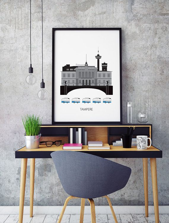Tampere Finland city Art print Scandinavian design by Formanova