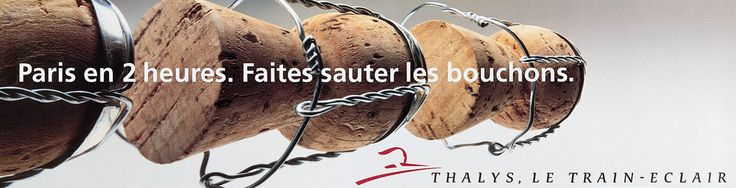 """Read more: https://www.luerzersarchive.com/en/magazine/print-detail/thalys-4048.html Thalys Paris in 2 hours. Without traffic jams. (Play on words: """"Bouchon"""" means """"cork"""" as well as """"traffic jam."""") Tags: Ogilvy & Mather, Brussels,Geert Joostens,Marc Hendrix,Jan Parys,Frederic Bilquin,Olivier Roland,Frank Uyttenhove,Thalys"""