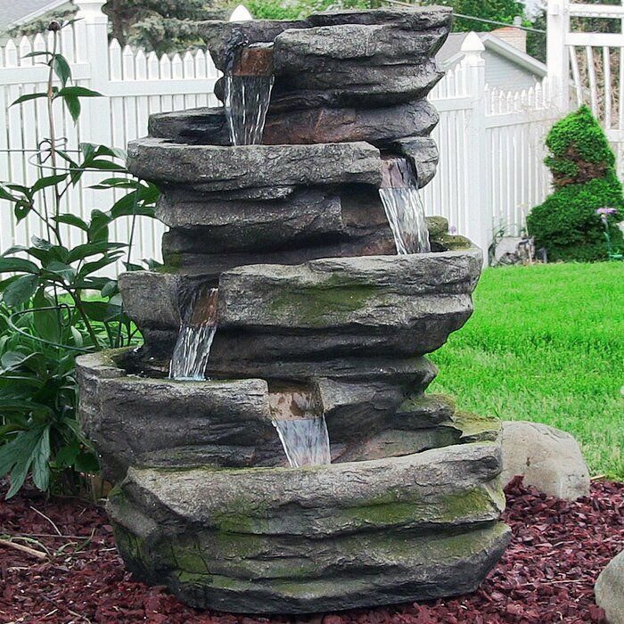 Loon Peak Valdez Resin Fiberglass Electric Lighted Cobblestone Waterfall Fountain With Le Outdoor Waterfall Fountain Water Fountains Outdoor Outdoor Waterfalls