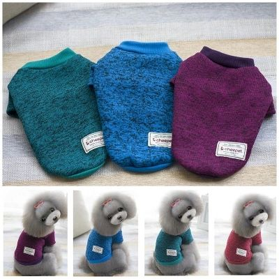 6 Color pet dog sweater for autumn winter wholesale warm knitting crochet clothes for dog chihuahua dachshunds pitbull C66 #Affiliate