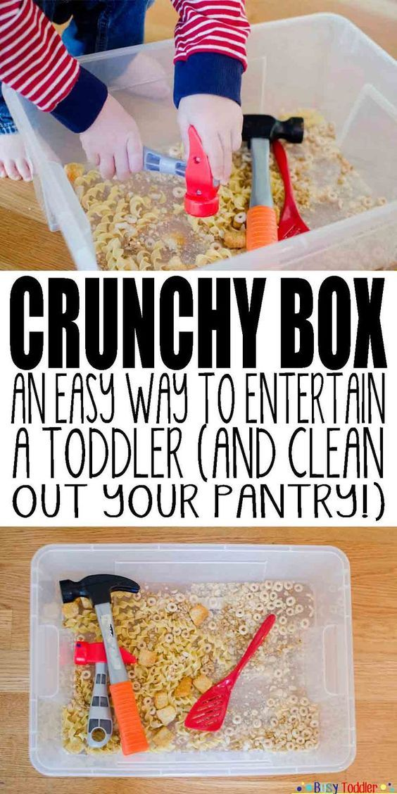 Crunchy Box: an easy way to entertain a toddler