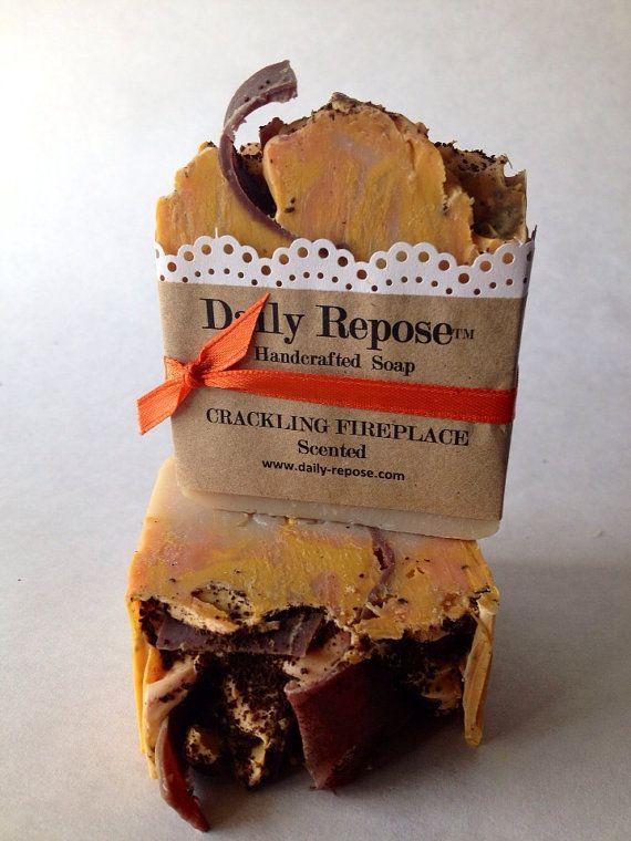 CRACKLING FIREPLACE Handmade Soap Bar  Natural  Vegan Cold Process Soaps on Etsy, $5.50