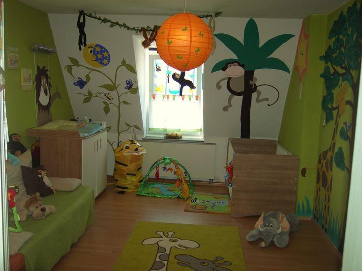 Elegant Dschungel Kinderzimmer von Hier ist das Dschungelzimmer von meinem Sohn hab ich mit meiner Cousine alles selbst gemalt Ich denke die Arbeit hat sich