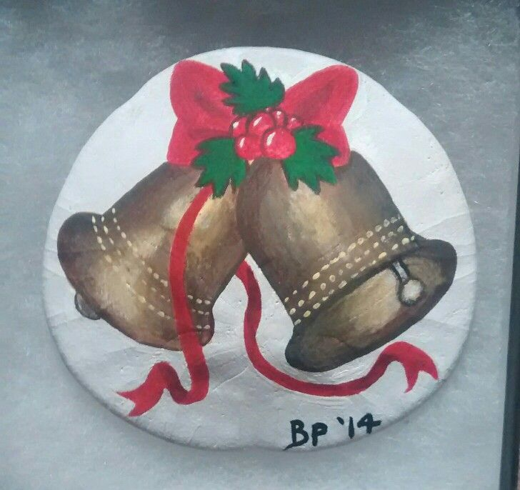 Christmas bells! (Handpainted by Brenda Preston)