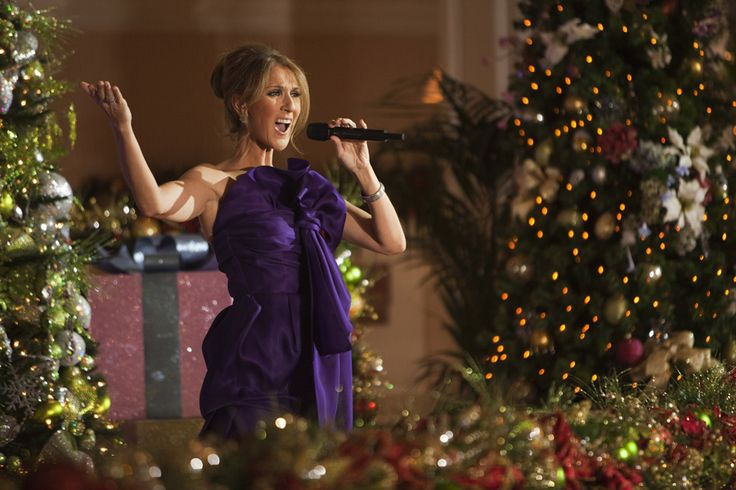 Celine Dion performing in the lobby of Disney's Grand Floridian Resort & Spa