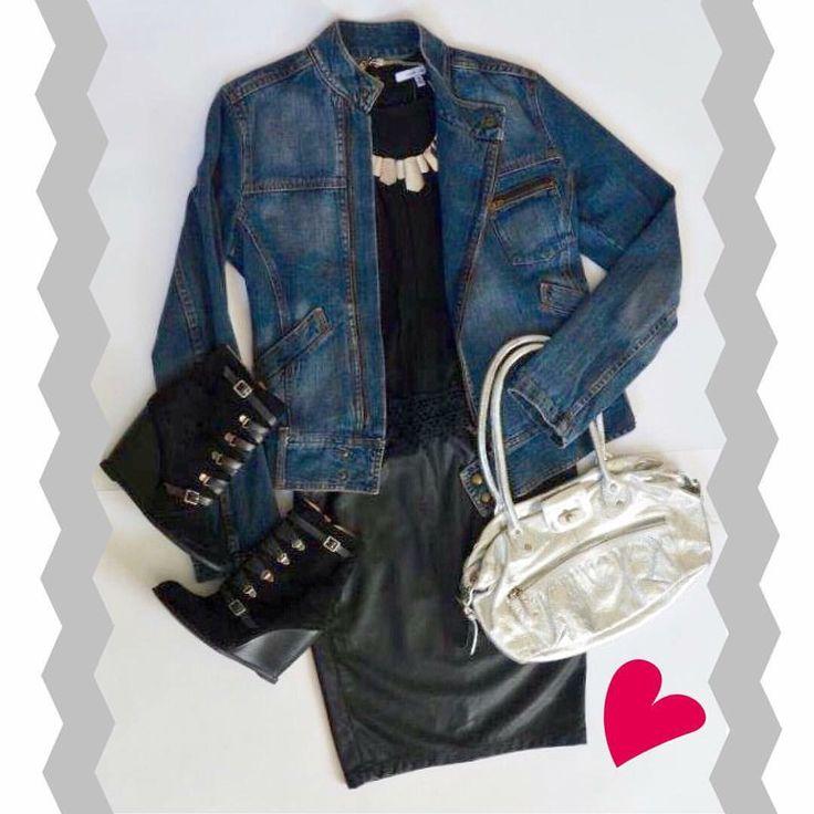💙OUTFIT 100% ACTITUD💙 🔹Jeans Jacket COMPLOT (M) 🔹Top Negro NAKED ZEBRA (S) 🔹Falda Tubo Eco Cuero BENETTON (36) 🔹Handbag Cuero Plata TOPSHOP 🔹Booties Gamuza BCBGeneration (37) ⚠️www.bazarvintage.cl #BazarVintageCL #ReuseFashion #VintageBag #digitalart #reutilizar #closet #online #marketing #branding #vende #compra #fashion #moda #vintage #VintageClothes #vintageclothing #soyceroplástico #vintagelove #vintagefashion #ExclusiveClothes