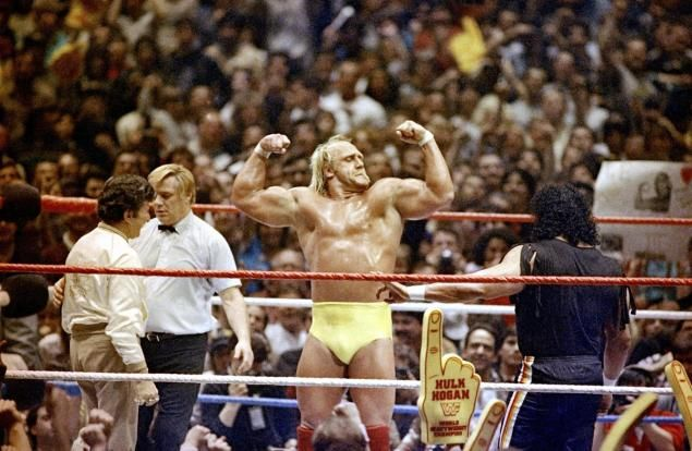 On March 31, 1985, WrestleMania wows the sold-out Garden with a wrestling spectacle that features Hulk Hogan and a host of other stars.