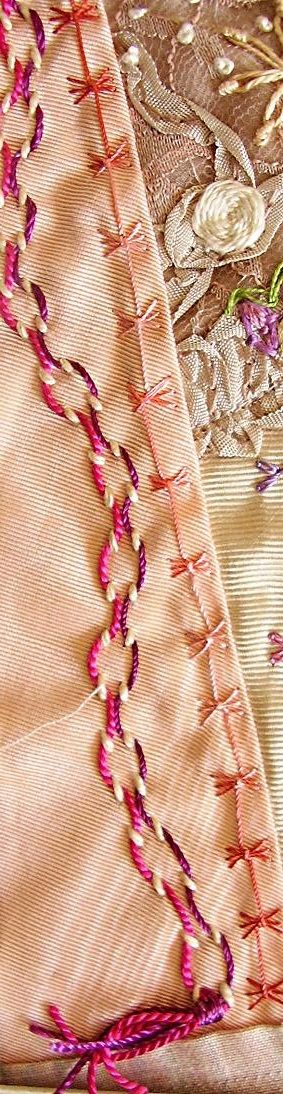 Butterfly Chain and Threaded Running Embroidery Stitches