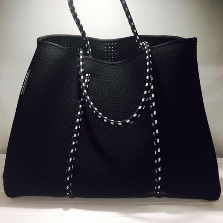 PARFAIT CE CABAS NEOPRENE BAG BLACK/OLIVE