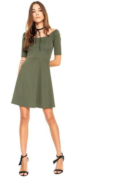 Vestido FiveBlu Curto Ombro-a-Ombro Verde - Marca FiveBlu 51d10b158a72f