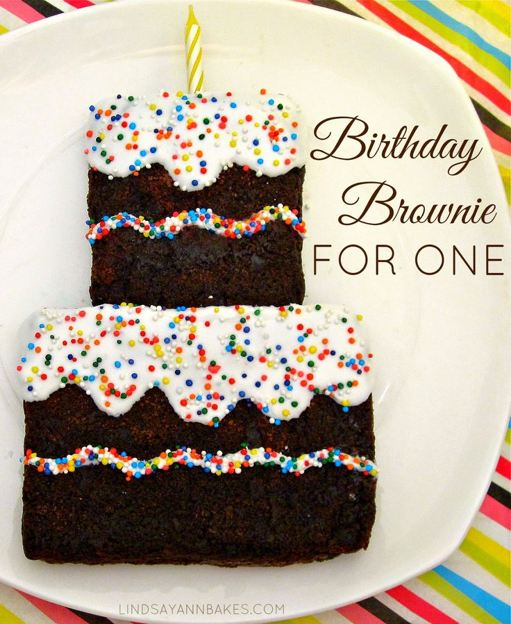 Lindsay Ann Bakes: Single-Serving Birthday Brownie For One