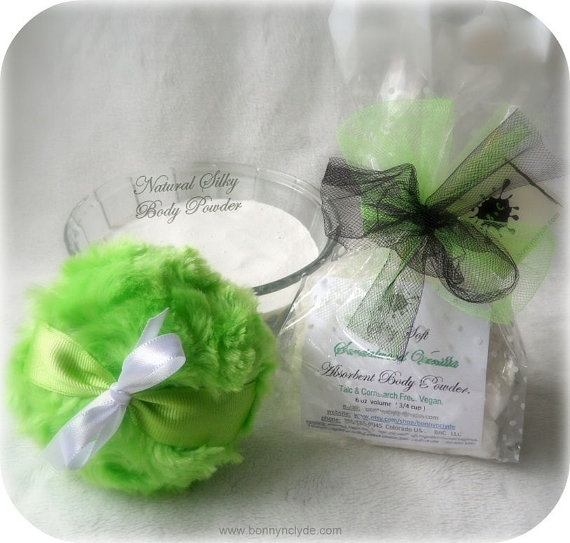 Body Powder COCONUT KISSES  refill  deodorizing by BonnyBubbles, $5.95- They even have it with sparkles in it!