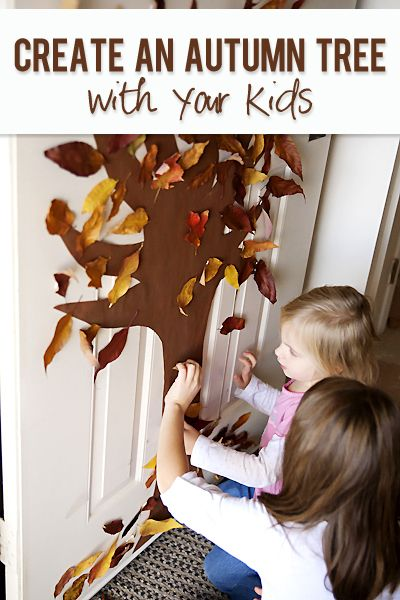 Autumn Tree Door for Kids  #howdoesshe #autumndoor #autumncrafts howdoesshe.com
