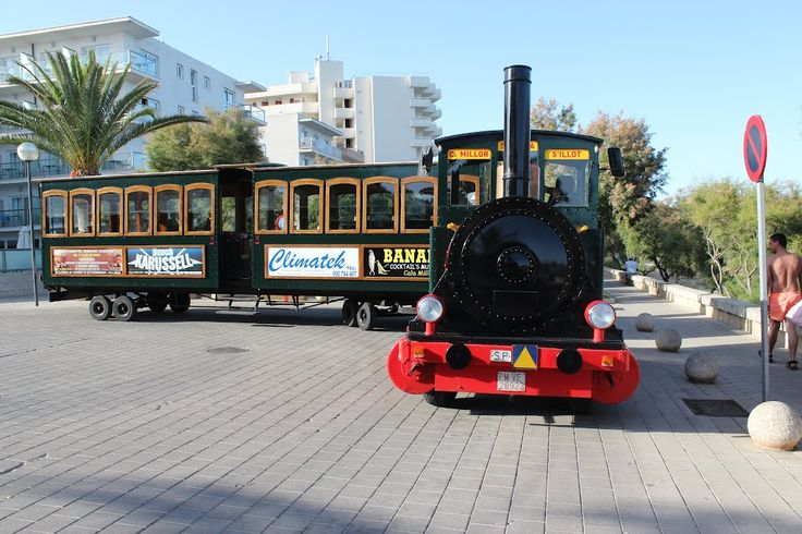 Cute train between Cala Millor>Sa Coma<S'Illot (Mallorca), Spain • Balearic Islands Balearic Islands