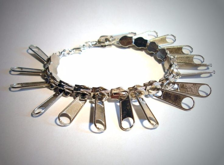 Armband Zipper Damen Modeschmuck Armbänder Karabinerverschluss 18 cm gefädelt