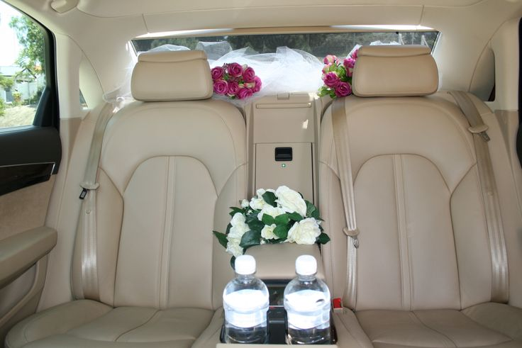 Our Audi A8 Wedding Decorations and the Interior