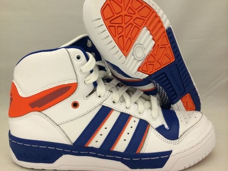 Size 8 5 Men's Adidas Attitude Hi Originals D73897 Royal Orange White Athletic | eBay