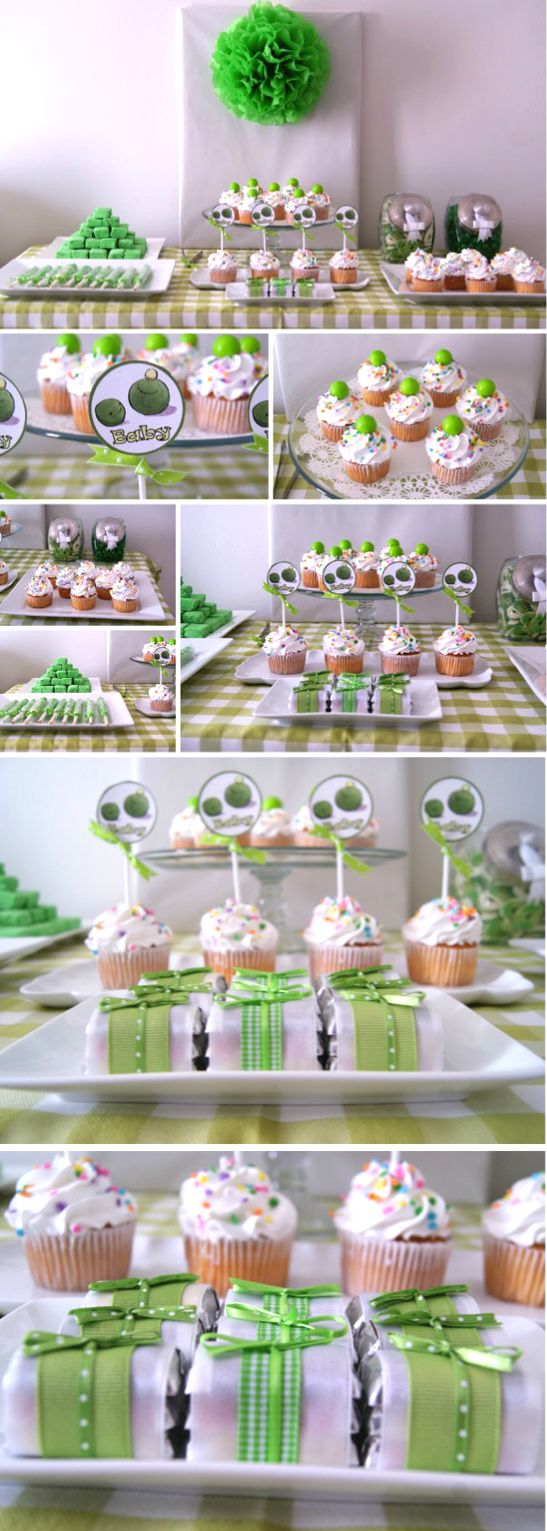 Baby Pea Sweet Table / Pea Pod Baby Shower Theme   Mesa De Postres Y Dulces