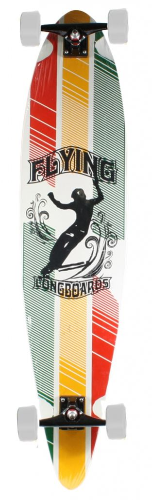 Longboard Flying Speed Rasta - 2 Cores de Rodas - Session Store