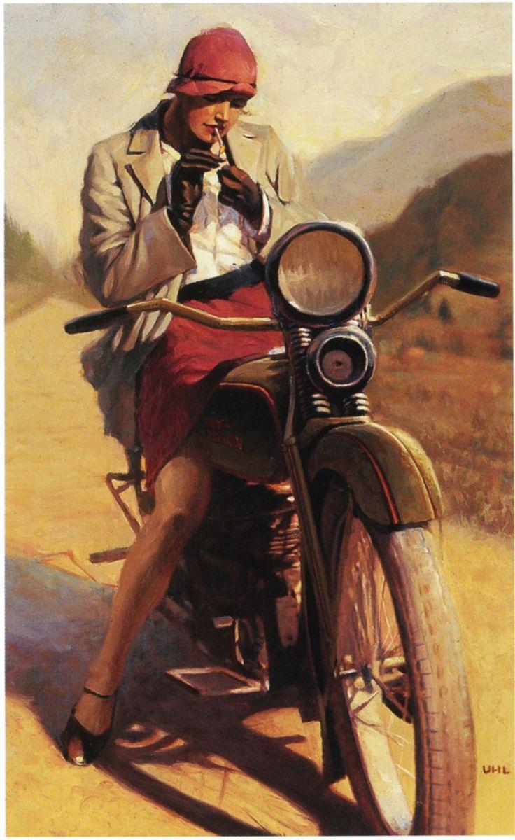David Uhl, painting for Harley-Davidson, 2000.