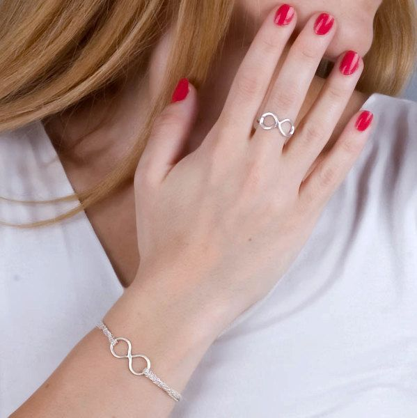 Armreife - massivem Silber Armband Unendlichkeit - ein Designerstück von ToolisJewelry bei DaWanda
