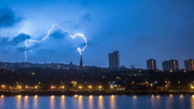 Robin Purser captured this lightning strike in Newcastle