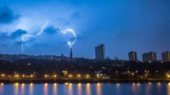 Robin Purser captured this lightning strike in Newcastle