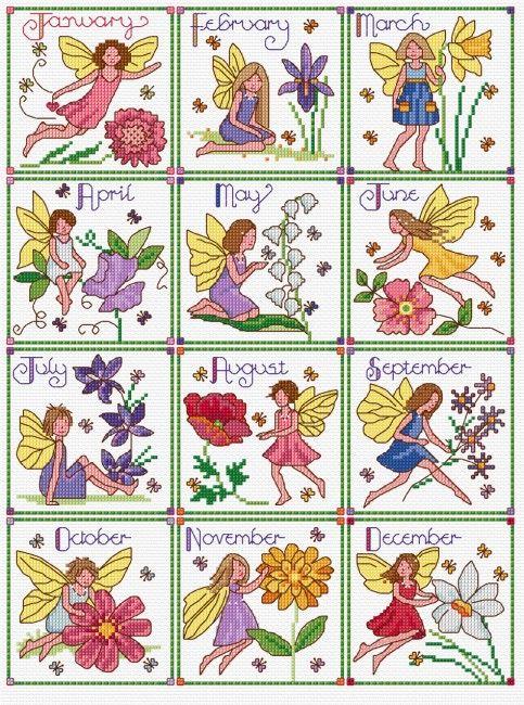 Lesley Teare - Birthday Fairies (Calendar 2015)