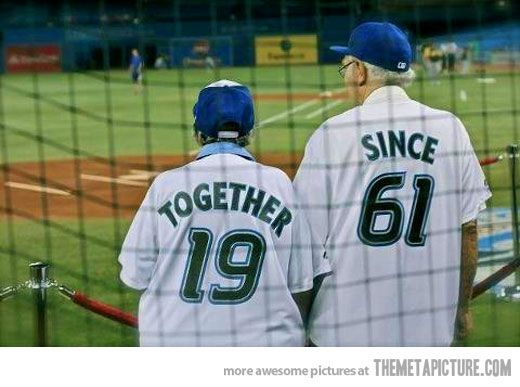 baseball and old couples. yupp.: Baseb Shirts, Cute Old Couple, Anniversaries Gifts, True Love, Weddings Anniversaries,  Baseball Players, Gifts Idea, Football Jersey, Baseb Players