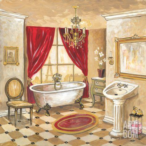 Parisian Bath Print by Gregory Gorham at eu art com. 17  images about Printables  Bathroom on Pinterest   Antigua  Bath