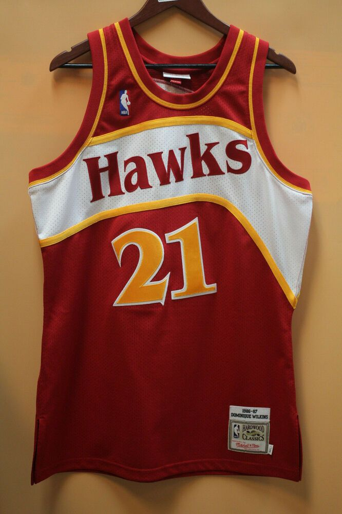 eBay  Sponsored Hardwood Classics Dominique Wilkins 1986-87 Mitchell   Ness  Jersey  Size 4e32bf398