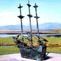 "The Great Irish Famine  A Monument to the Great FamineIN THE shadow of Ireland's ""holy"" mountain, Croagh Patrick, stands a most unusual ship. It looks like a small 19th-century..."