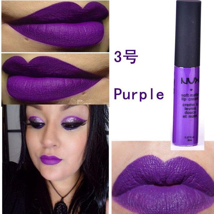 Maquiagem Brand Soft Matte Lip Cream Lip Gloss 12 Colors Red Velvet Waterproof Liquid Lipstick Lipgloss Matte Lips Makeup