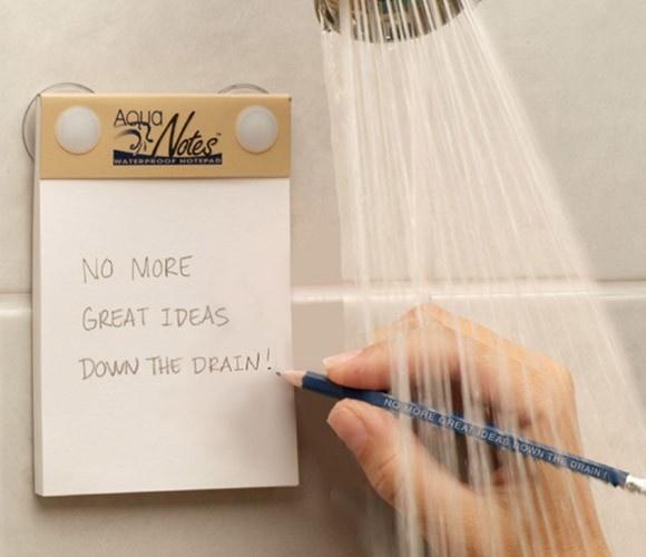 waterproof notepad & pencil - GENIUS!!!