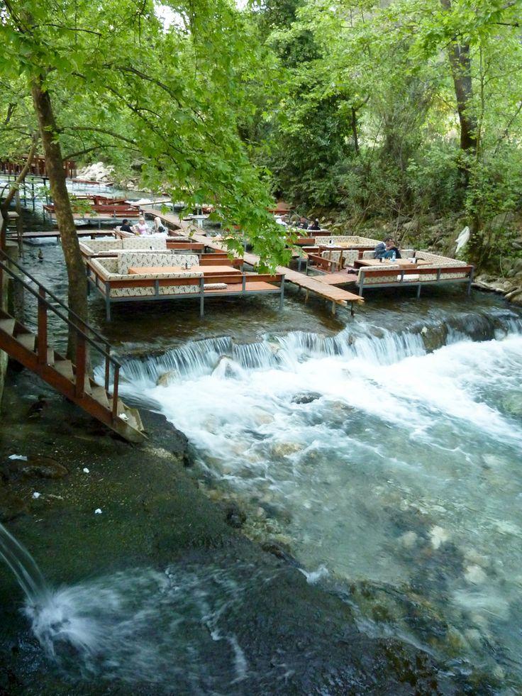 restaruant on a river, Antalya, Turkey
