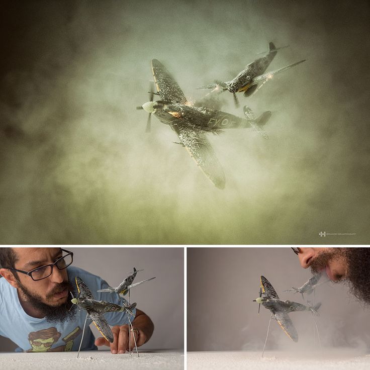 To be creative you have to keep your inner child alive. Mexican photographer Felix Hernandez Rodriguez is a grown-up who's never stopped playing. He creates his majestic photographs including small toys.