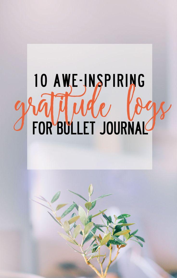 10 awe-inspiring gratitude logs for Bullet Journal